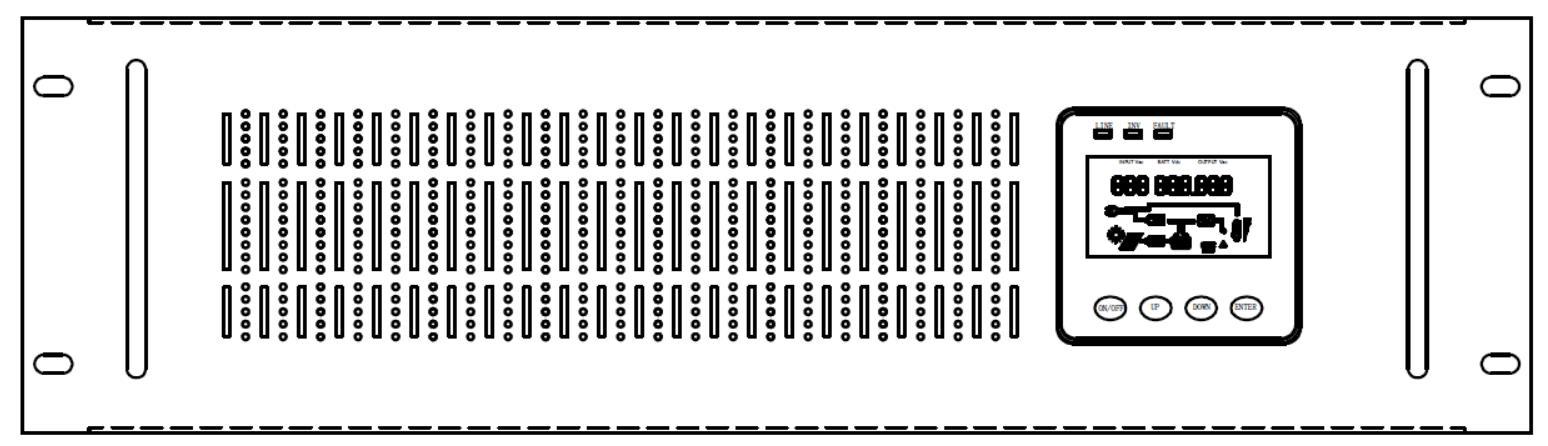 3U Rack Mounted Line Interactive UPS Front Panel