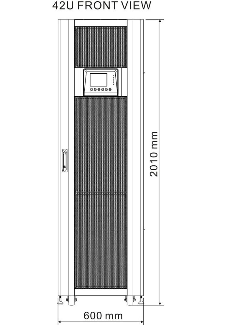 Modular UPS 42U Front View