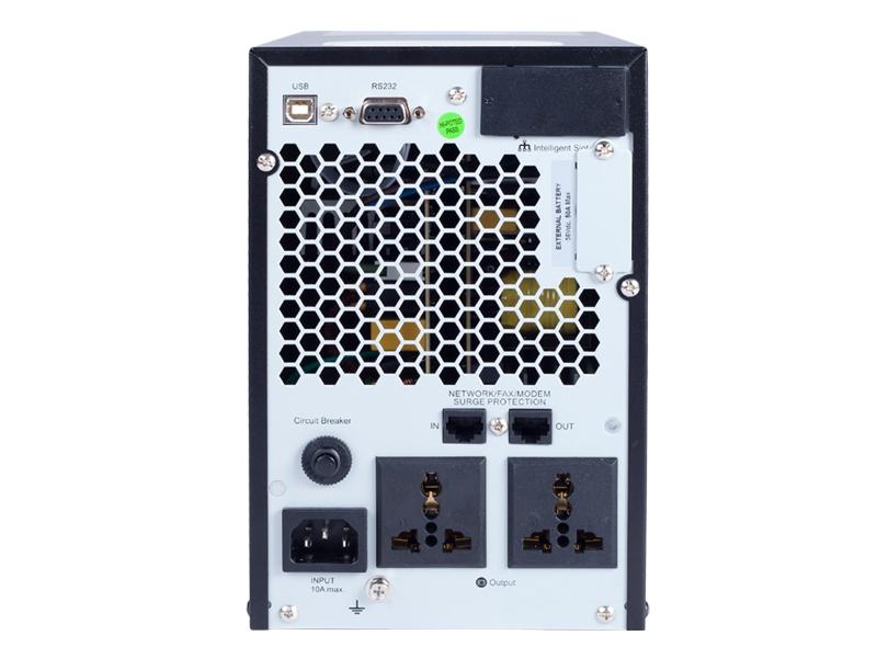 double conversion security camera ups 1kva rear